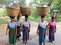 Burmese Culture - Locals in Old Bagan