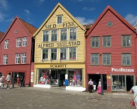 Norwegian Architecture - Bryggen in Bergen
