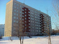 Russian Architecture - Communist Blok Apartment Building in Izhevsk