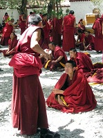 Chinese Culture - Monks debating in Tibet