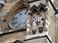 British Architecture - Detail on Westminster Abbey in London