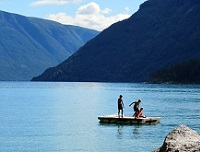 Norwegian Culture - Kids playing in Lustrafjord