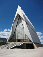 American Architecture - Cadet's Chapel at the Air Force Academy