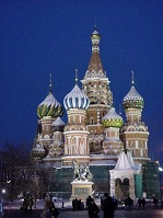 Russian Architecture - St. Basil's on Red Square in Moscow