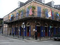 American Architecture - French Quarter in New Orleans