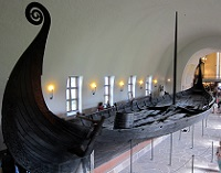 Oslo, Norway - Oseberg in the Viking Ship Museum