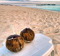 Bahamian Food - Coconut drink
