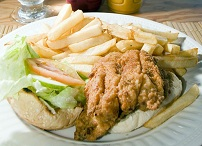 Barbadian Food - Flying fish sandwich