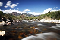 Bhutanese Geography - River in the mountains