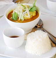 Cambodian Food - Amok fish soup