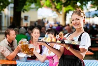 German Culture - Waitress in Bavaria