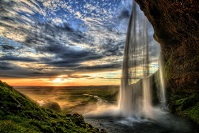 Icelandic Geography - Seljalandsfoss Waterfall
