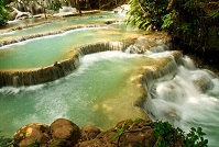 Lao Geography - Kuang Si waterfall