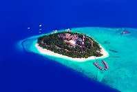 Maldivian Geography - An island from the air