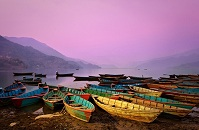 Nepalese Culture - Boats on Phewa Lake