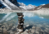 Nepalese Geography - Stones on a lake