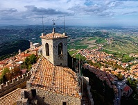 Sammarinese Geography - San Marino from above