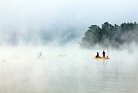 South Korean Culture - Fishing in the mist