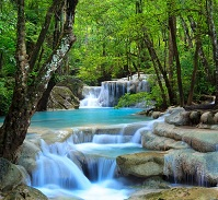 Thai Geography - Erawan Waterfalls