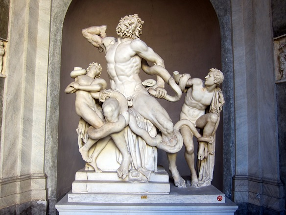 laocoon and his sons Punishment came in the form of sea serpents, sent by the gods to crush and  strangle laocoon and his sons found with a missing limb, the.